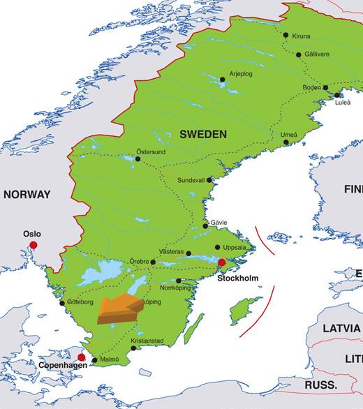 Schweden Karte Malm 246 Hanzeontwerpfabriek